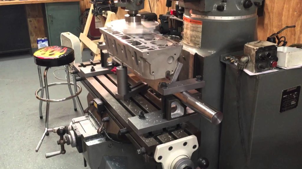 Cylinder Head holding and leveling fixture – Rick Morris Equipment